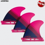 2018 F-ONE FLOW thruster FIN SET X 3, RASPBERRY