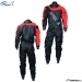 2020 Dry Fashion Drysuit Kuivapuku Standard Nylon, color 79 Black with Red insert Knee and seat reinforcement: Black