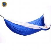 MoonHammock Double riippumatto kahdelle, sininen-valkoinen