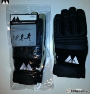 MM Football Lineman Gloves Youth, black.
