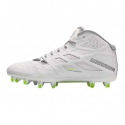 WARRIOR BURN8.0 Molded Football Cleat mid-high D, white/silver